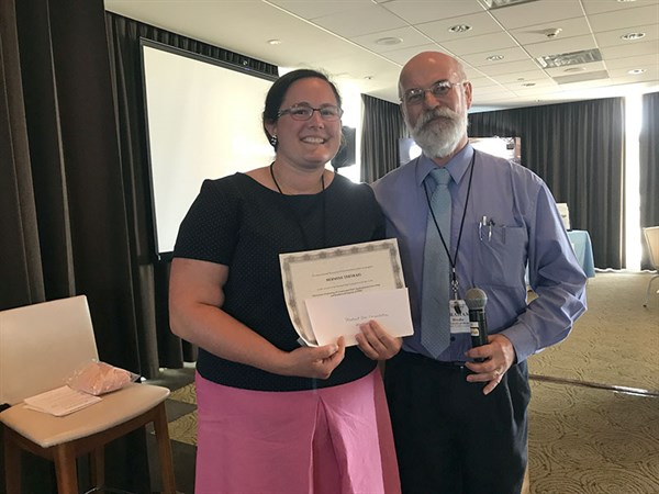 Hermine Tertrais, from Ecole Centrale de Nantes, won the best oral presentation at The 51st Annual Microwave Power Symposium